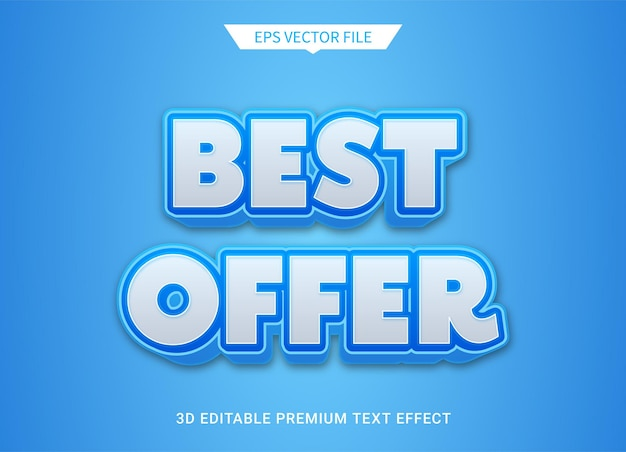 Beste aanbieding 3d-bewerkbare tekststijleffect premium vector