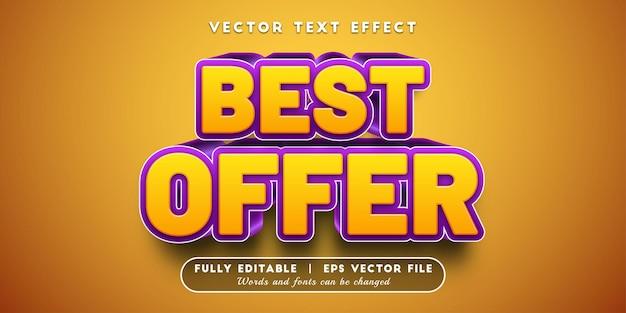 Beste aanbieding teksteffect, bewerkbare tekststijl