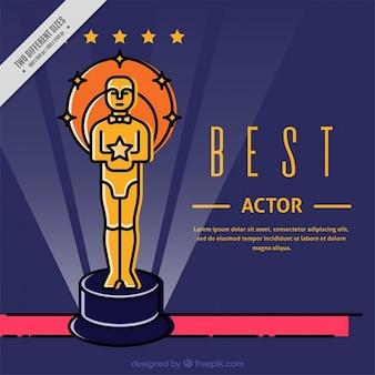 Beste acteur film award achtergrond
