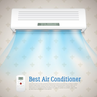Beste airconditioner illustratie
