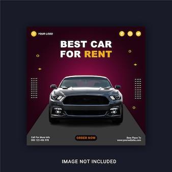 Beste auto te huur social media post instagram-bannersjabloon