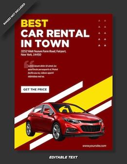 Beste autoverhuur poster sjabloonontwerp