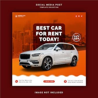 Beste autoverhuur voor vandaag instagram story banner social media post-sjabloon