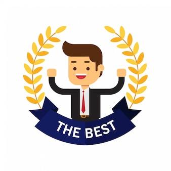 Beste award krans voor het bedrijfsleven