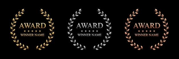 Beste awardlabel met gouden lauwerkrans.