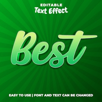Beste - bewerkbaar teksteffect in groene stijl