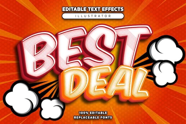Beste deal teksteffect bewerkbaar in komische stijl