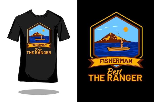 Beste het retro vintage t-shirtontwerp van de ranger