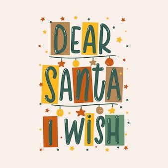Beste kerstman, ik wens originele letters