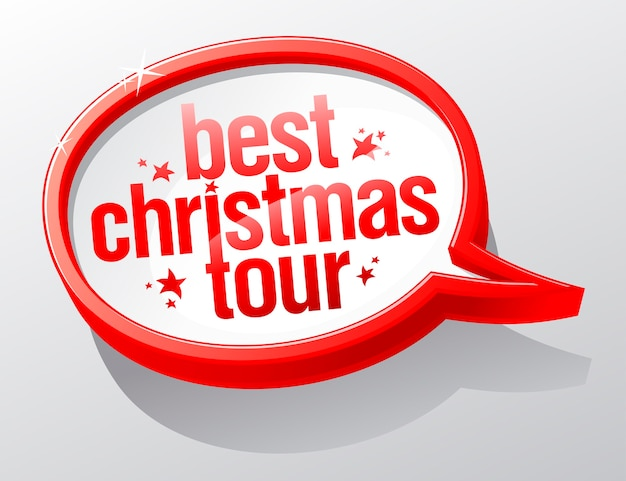 Beste kersttour-tekstballon.
