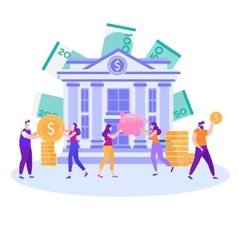 Beste keuze bespaar geld bankstorting promo