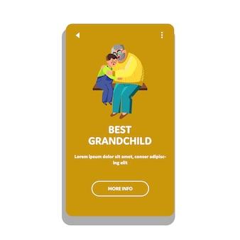Beste kleinkind knuffelen met grootvader