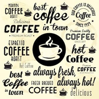 Beste koffie in de stad achtergrond