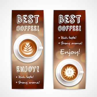 Beste koffie kunstbanners