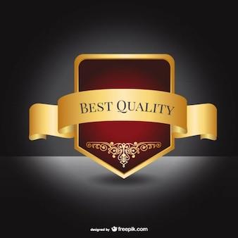 Beste kwaliteit elegante label