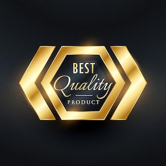 Beste kwaliteit gouden etiket badge ontwerp
