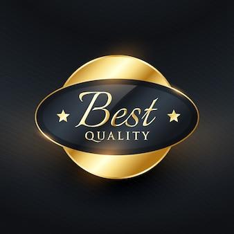 Beste kwaliteit luxe label badge vector design