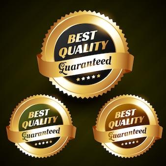 Beste kwaliteit mooie gouden label illustratie