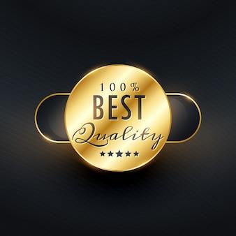 Beste kwaliteit premium gouden label ontwerp