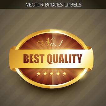 Beste kwaliteitslabel in gouden stijl