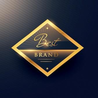 Beste merk gouden label en badge ontwerp