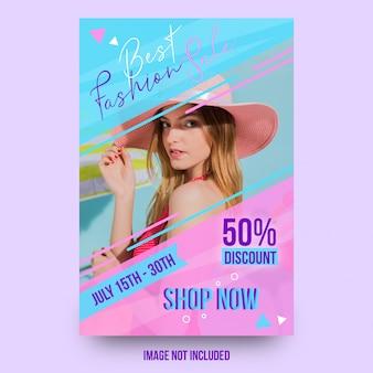 Beste mode verkoop prachtige flyer sjabloonontwerp