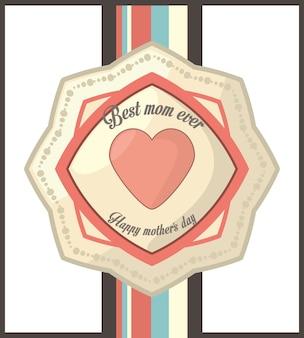 Beste moeder ooit gelukkige moederdag vintage stijlkaart