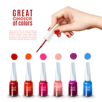 Beste nagellak kleuren realistische poster