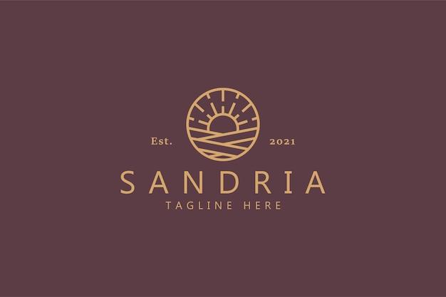 Beste premium sunrise-symboolillustratie. branding natuurlijke concept vector sjabloon logo.