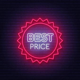 Beste prijs neon badge.