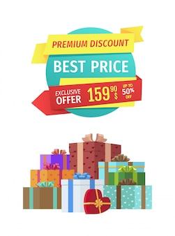 Beste prijzen speciale aanbieding voor vakantie verkoop banner
