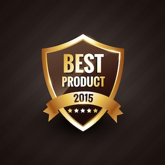 Beste product van gouden label badge-element