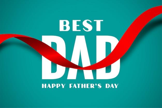 Beste vader gelukkige vaders dag lintstijl