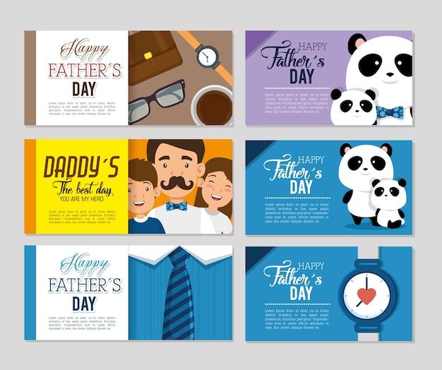 Beste vader met dochter en zoon avatars