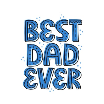Beste vader ooit citaat. hand getekende vector belettering. vaderdag, verjaardagsconcept voor t-shirt, kaart, poster.