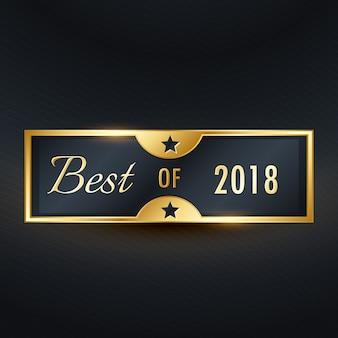Beste van het jaar gouden premium label ontwerp