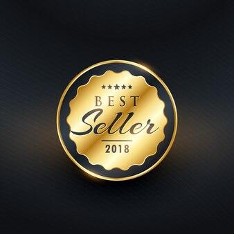 Beste verkoper premium label badge vector design