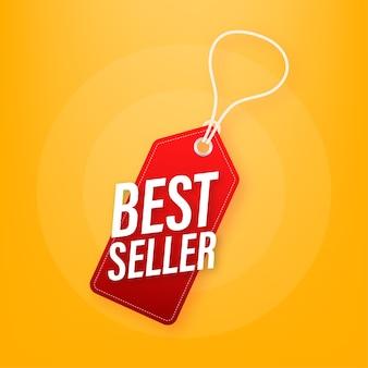 Beste verkoper prijskaartje illustratie