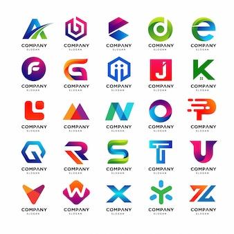 Beste verzameling van brief a tot z-logo sjablonen