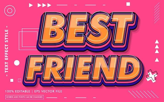 Beste vriend tekst effecten stijl
