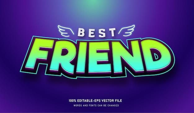 Beste vrienden teksteffect bewerkbaar lettertype