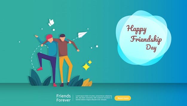 Beste vrienden voor altijd concept