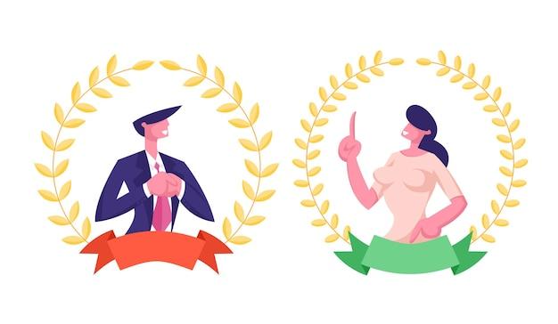 Beste werknemer werknemer concept met managers