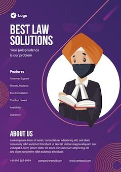 Beste wet oplossingen flyer ontwerp