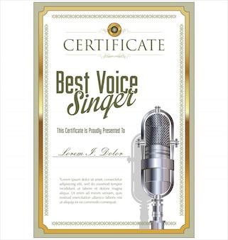 Beste zangerscertificaat