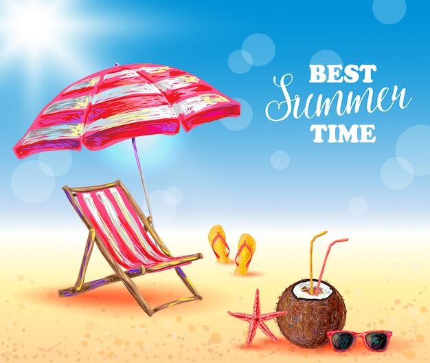 Beste zomertijd poster