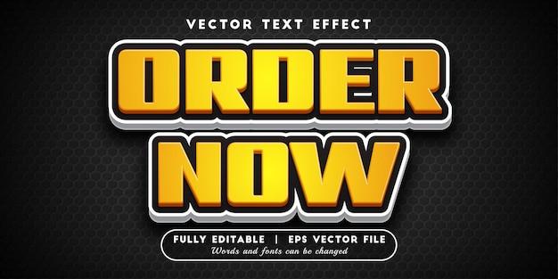 Bestel nu teksteffect, bewerkbare tekststijl