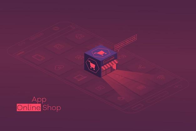 Bestel online, winkelconcept