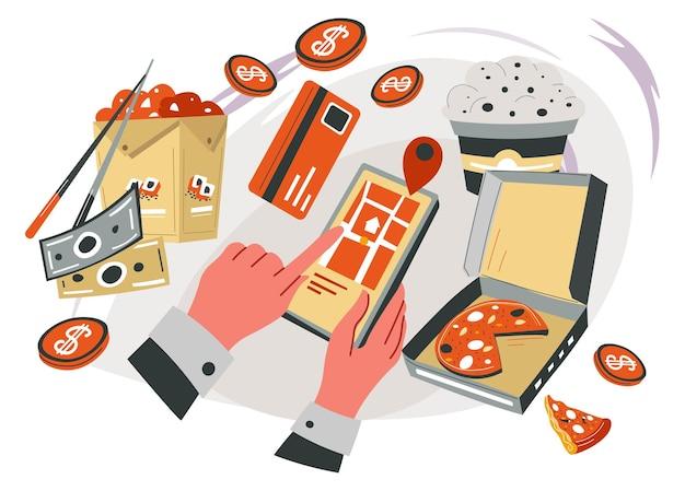 Bestellen en bezorgen van eten en maaltijdgerechten