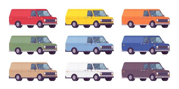 Bestelwagen in felle kleuren
